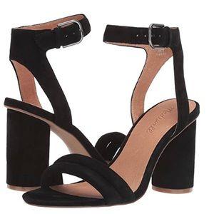 Madewell Ankle Strap Black High Heel Sandal 8.5